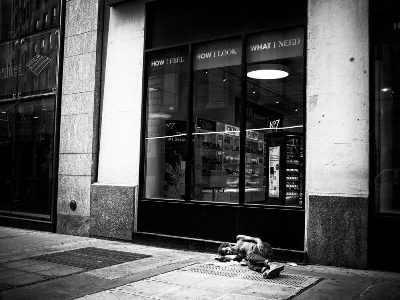 Obdachloser, New York 2016