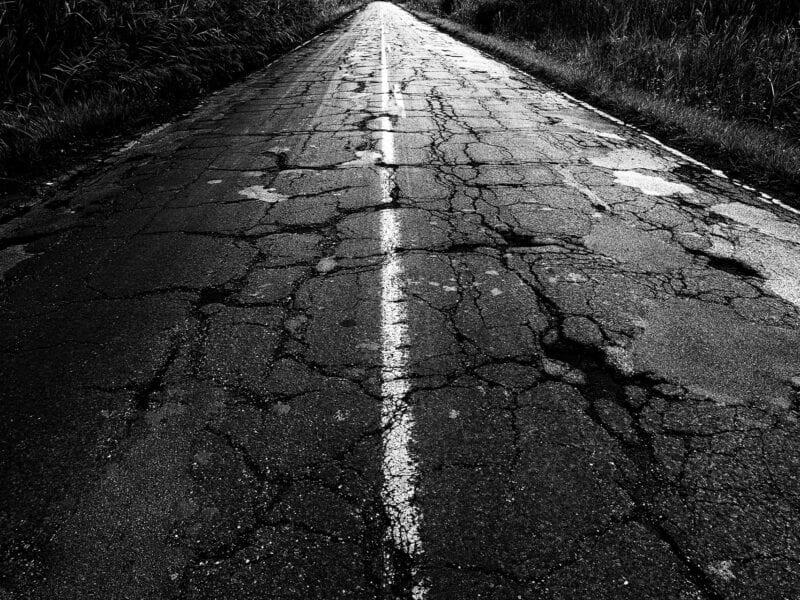 Desolate Infrastruktur: Viele Straßen in den USA sehen so aus, Ohio 2016