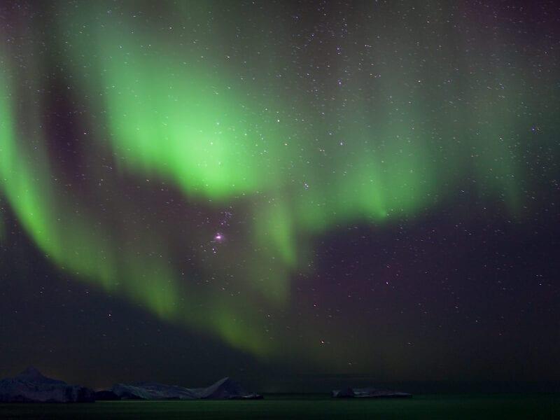 Februarnacht in Ilulissat - Westgrönland