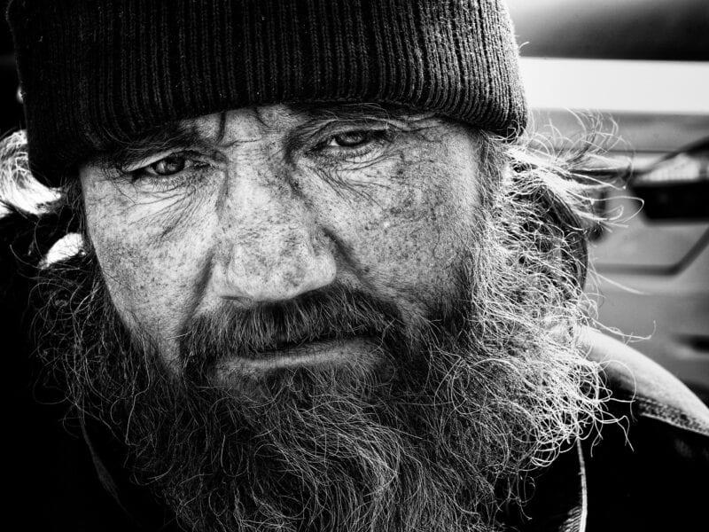 Obdachloser: Während der Fußball-WM wurden er und andere systematisch aus dem Stadtzentrum vertrieben, Moskau 2018
